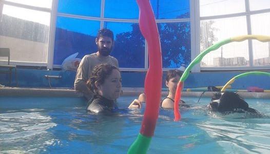 Hidroterapia asistida con perros